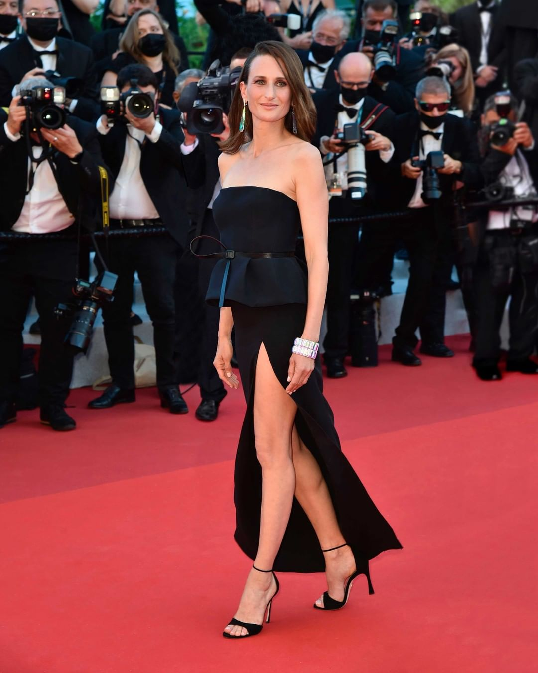 Actress Camille Cottin walked the red carpet at the 74th Festival de Cannes