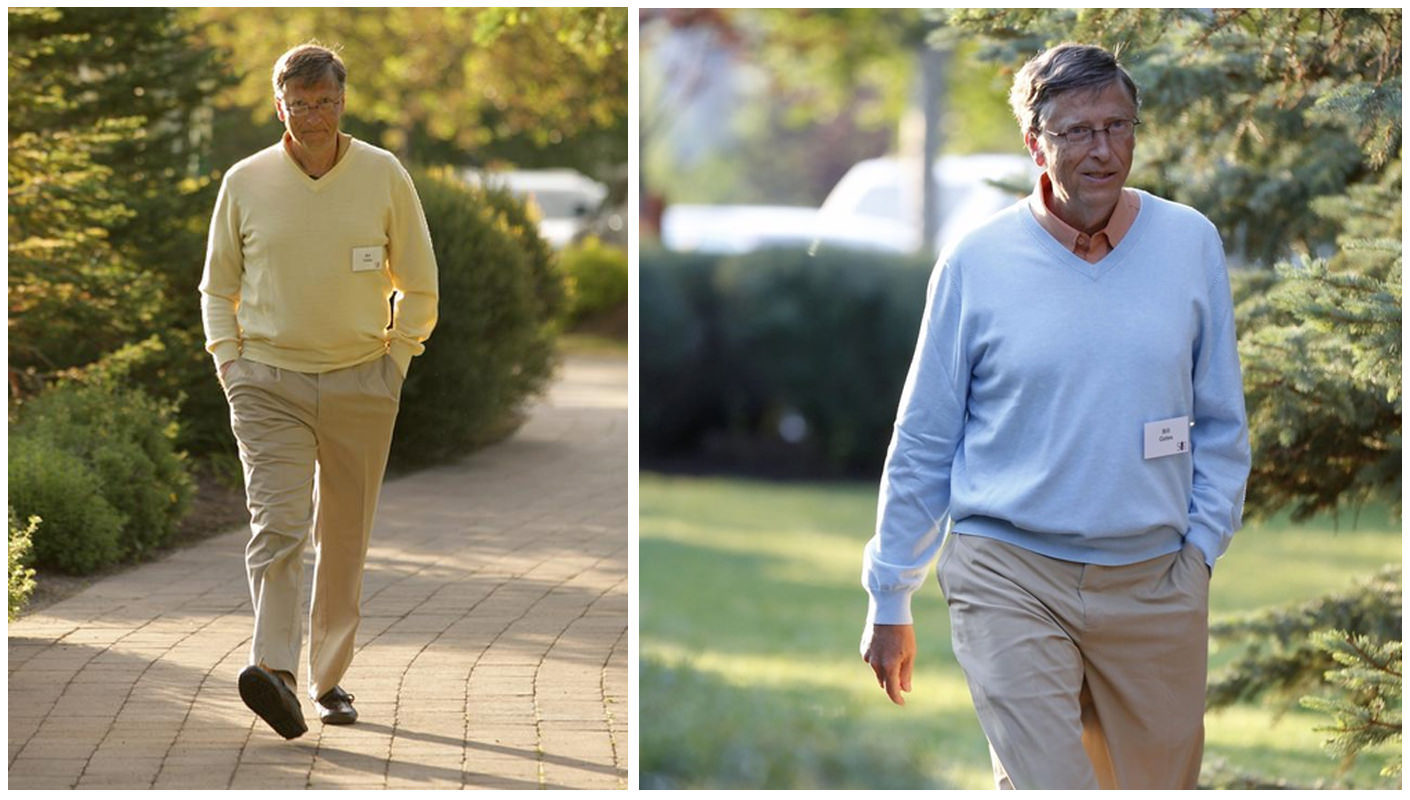 Билл Гейтс в брюках цвета хакки
