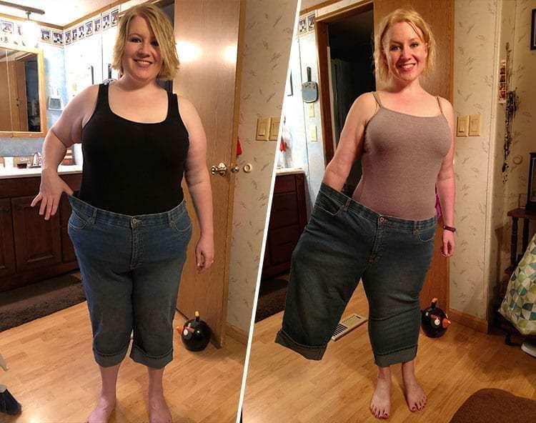 девушка - похудение до после