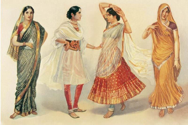 этно стиль в одежде жительниц Индии