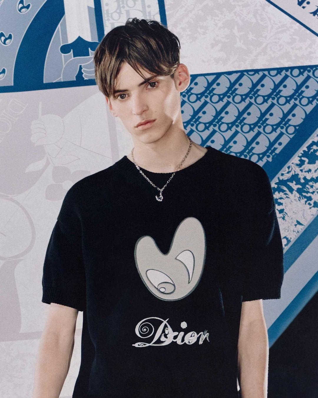 футболка с фирменным принтом Dior