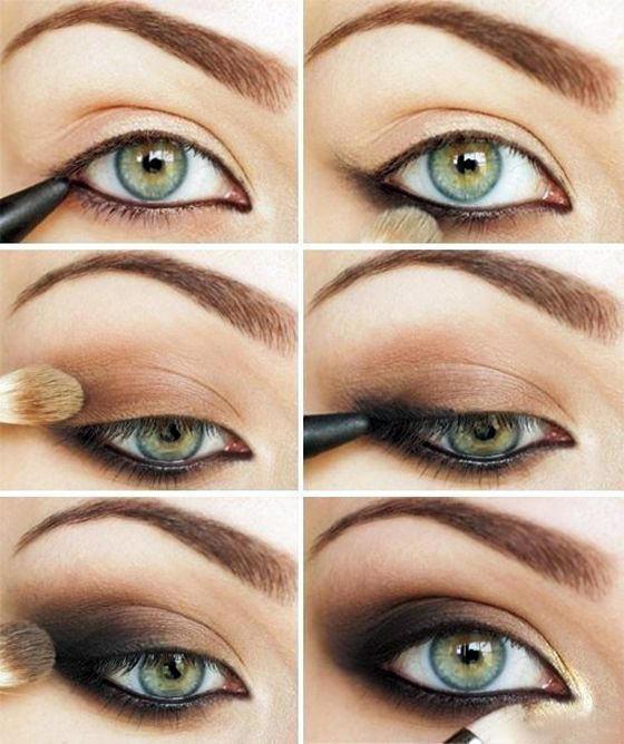 макияж глаз для русых