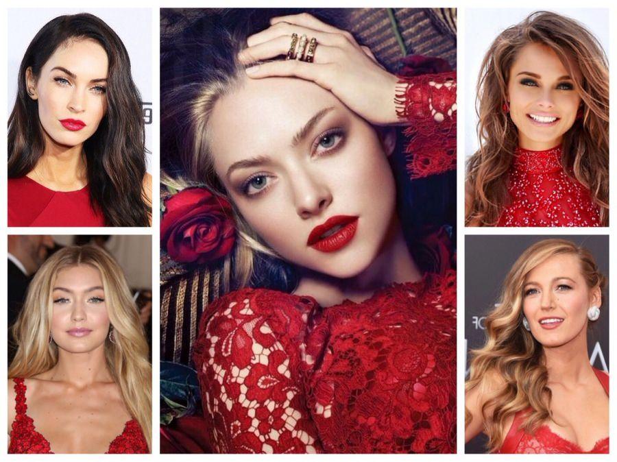 Особенности макияжа по красное платье