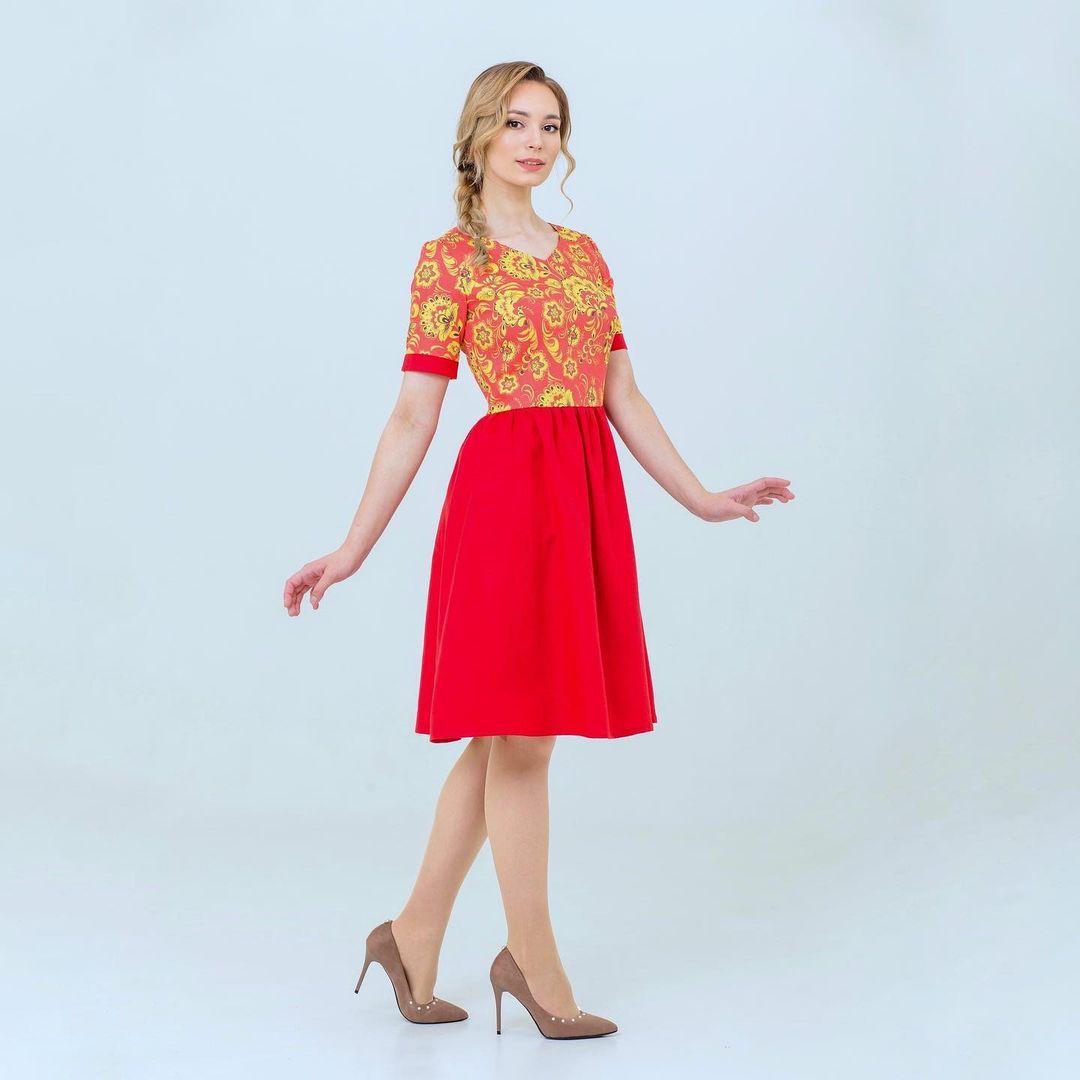 платье в славянском стиле