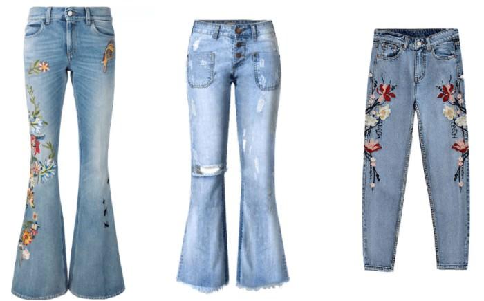 джинсы бохо