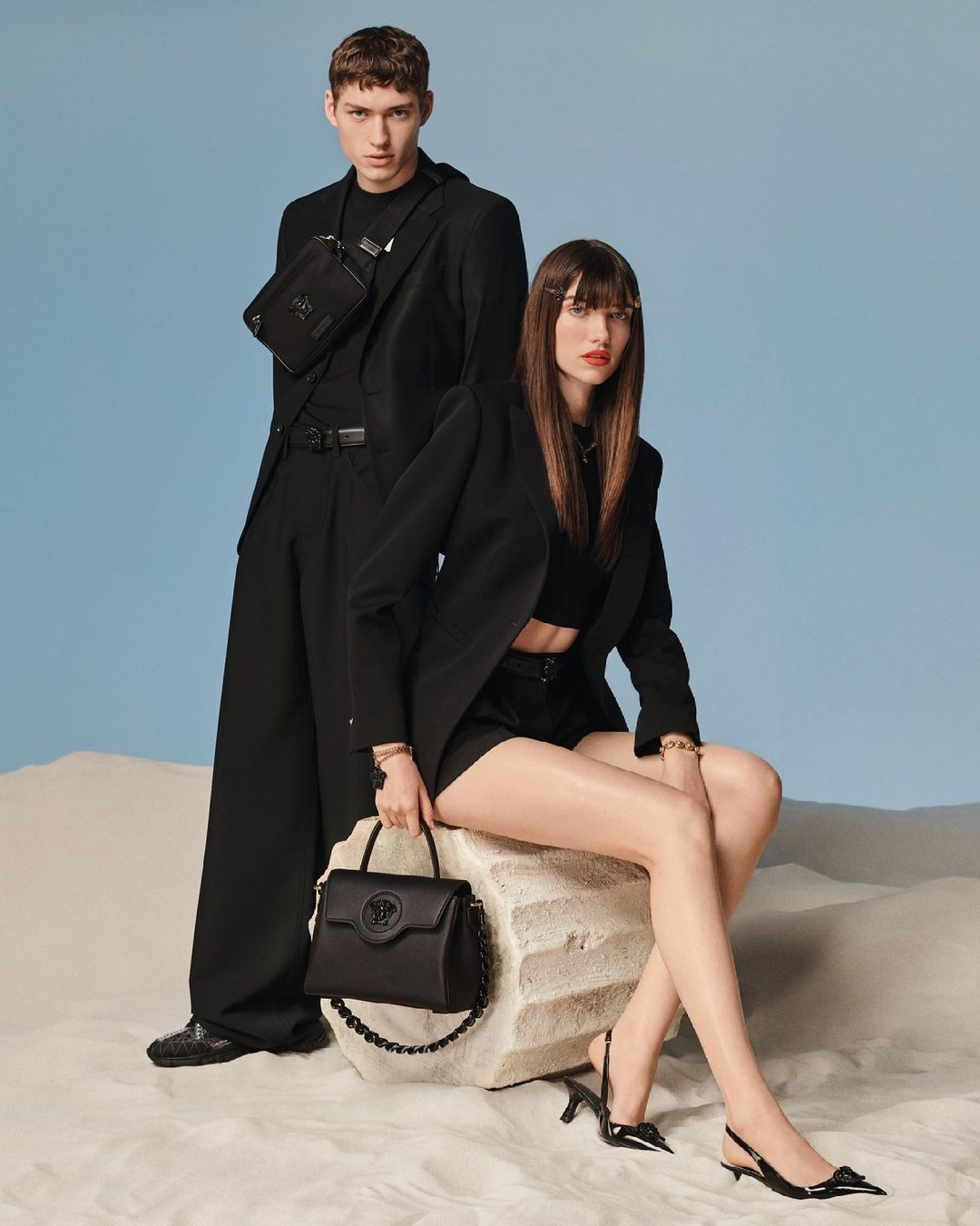 Hot seat - the #VersaceLaMedusa accessories line includes designs for him and her.