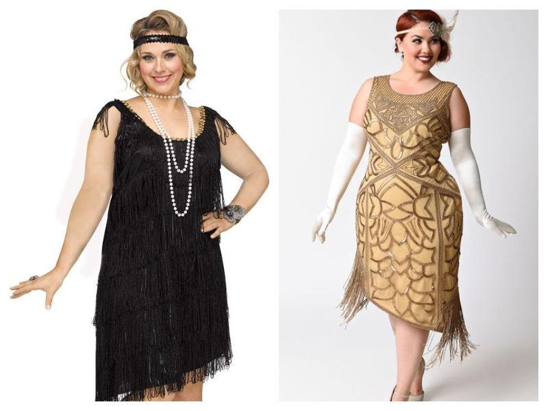платья в стиле гэтсби для полных дам