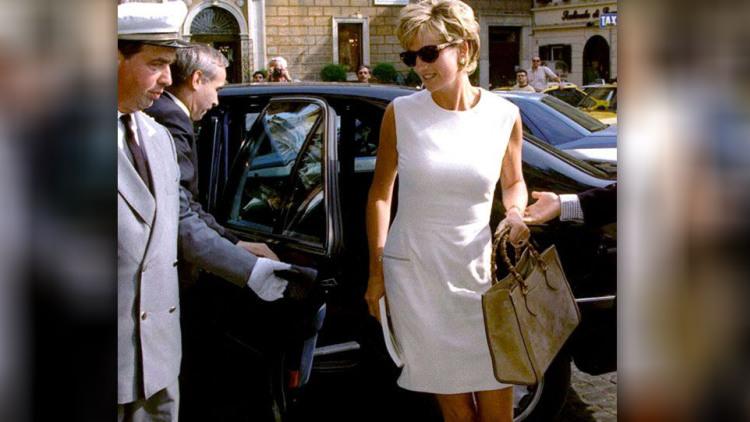 Принцесса Диана с сумкой Гуччи