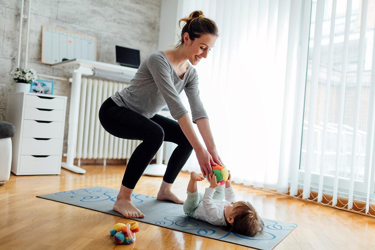 Спортивные упражнения после родов